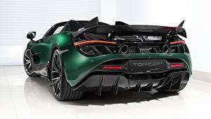 Картинка Макларен Вид сзади Зеленая Металлик Углепластик Spider, TopCar, Fury, 2020, 720S авто