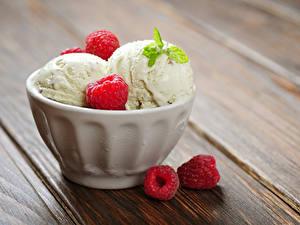 Фотографии Сладости Мороженое Малина Доски