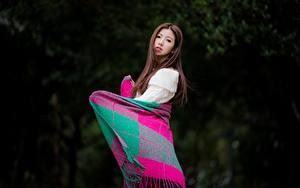 Фото Азиатки Позирует Шатенки Миленькие Plaid