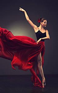 Фото Шатенка Танцы Юбка Руки Балет Девушки