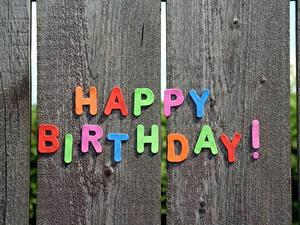 Картинки День рождения Доски Английская Слова Ограда