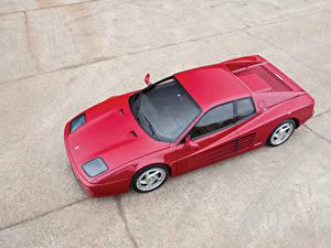Картинки Феррари Винтаж Красный Сверху 1994-1996 F512 M Pininfarina