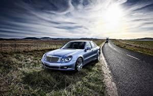 Обои Mercedes-Benz Дороги E-Class W211 Авто