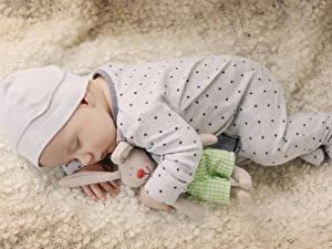 Обои Игрушки Младенец Спит ребёнок