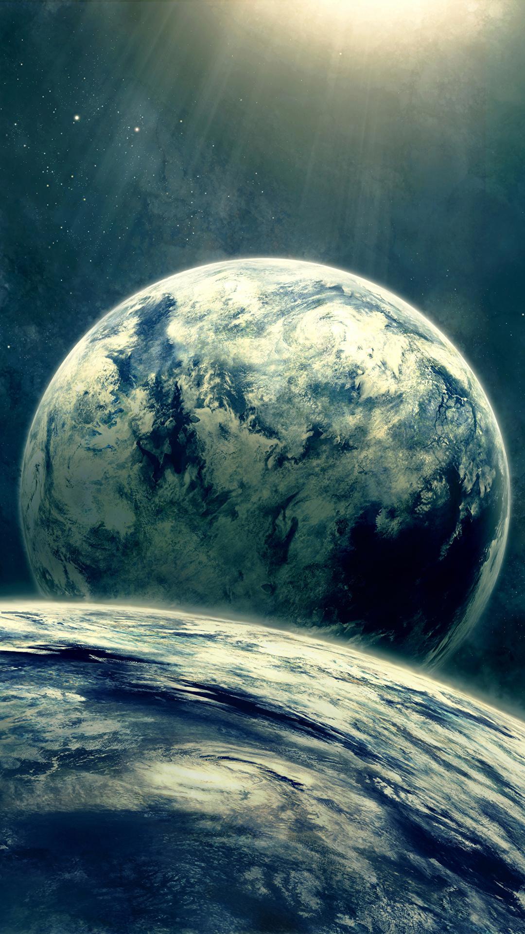 Oboi Dlya Rabochego Stola Planeta Kosmos 1080x1920