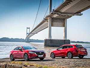 Фото Mazda Двое Красных Металлик 2012-18 Mazda 6 Машины