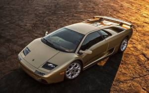Фотографии Lamborghini Золотой Diablo Машины
