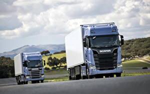 Картинка Scania Грузовики Голубой S 700