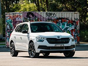 Фотографии Шкода CUV Белая Металлик Kamiq Monte Carlo AU-spec, 2020 авто
