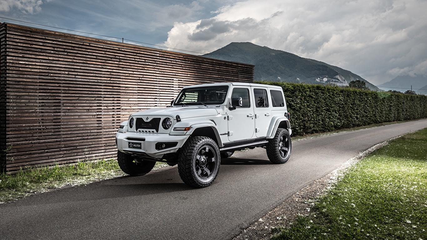 Фотографии Джип Внедорожник 2019 Militem Ferōx белые Автомобили 1366x768 Jeep SUV белая Белый белых авто машины машина автомобиль