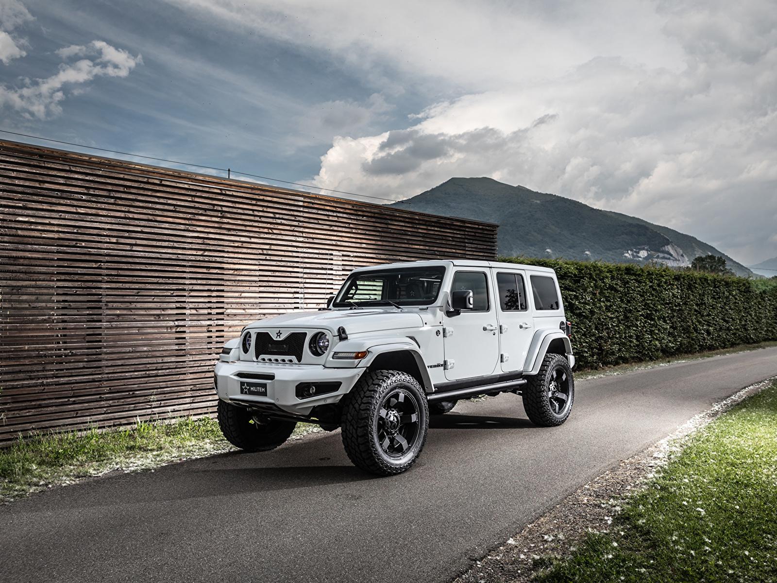 Фотографии Джип Внедорожник 2019 Militem Ferōx белые Автомобили 1600x1200 Jeep SUV белая Белый белых авто машины машина автомобиль