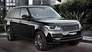 Картинка Land Rover Черные Металлик Vogue машина
