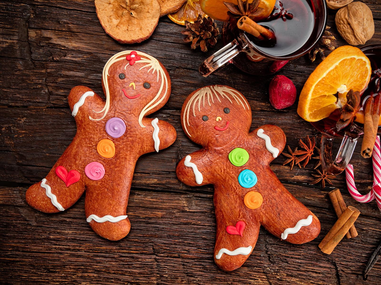 Фото Рождество Бадьян звезда аниса Корица Еда Печенье сладкая еда дизайна 1600x1200 Новый год Пища Продукты питания Сладости Дизайн