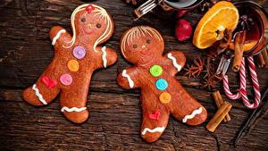 Фото Рождество Печенье Сладкая еда Бадьян звезда аниса Корица Дизайн