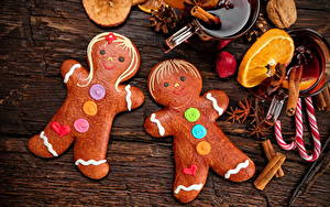Фото Рождество Печенье Сладости Бадьян звезда аниса Корица Дизайн