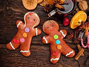 Фото Рождество Печенье Сладости Бадьян звезда аниса Корица Дизайн Пища
