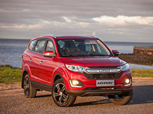 Обои Красный Металлик Кроссовер 2016-19 Lifan Myway Автомобили
