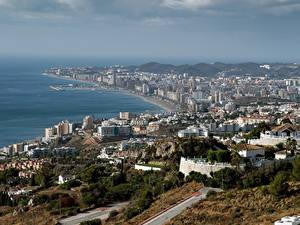 Обои для рабочего стола Дома Испания Побережье Andalusia, Fuengirola Города