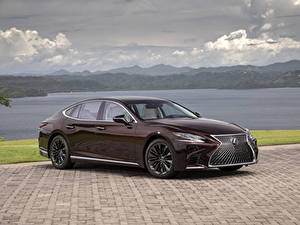 Картинки Lexus Бордовая Металлик 2020 LS 500 Inspiration Series машина