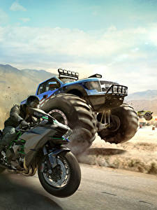 Картинка The Crew Мотоциклист Едущая Гонки Игры
