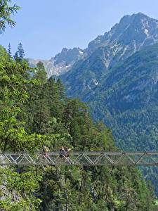 Фото Германия Горы Мост Бавария Mittenwald, Gorge Of Leutasch