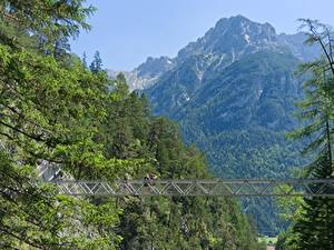 Фото Германия Горы Мосты Бавария Mittenwald, Gorge Of Leutasch