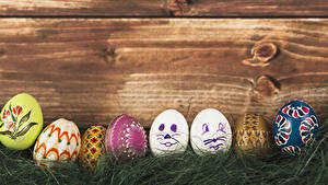 Картинка Пасха Доски Яйца Трава