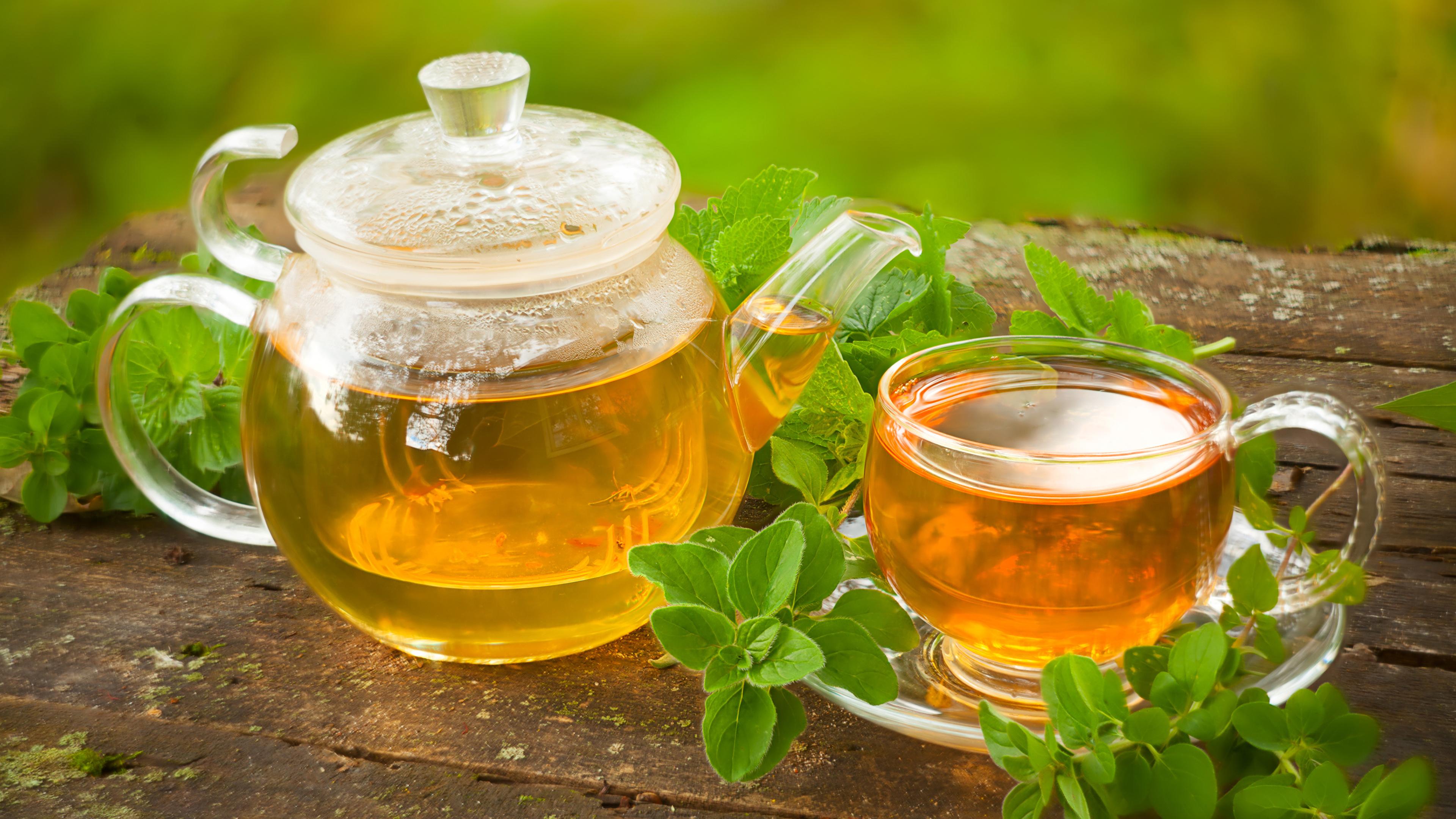 Обои мята, чай, чайник, доски. Еда foto 7