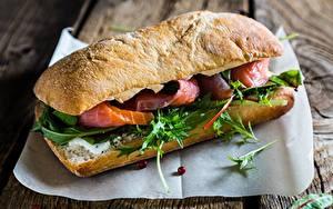 Обои Вблизи Сэндвич Рыба Пища