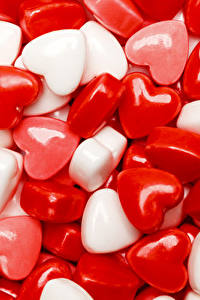 Картинка День святого Валентина Сладости Леденцы Сердечко Еда