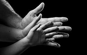 Фото Пальцы Вблизи Руки Черный фон