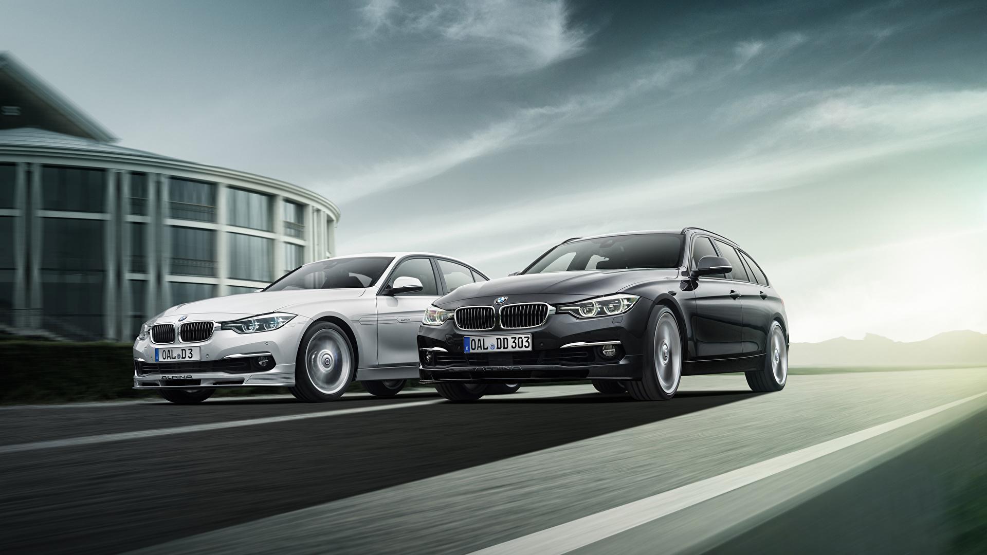 Фотография BMW F31 Alpina 2013 F30 3 Series вдвоем автомобиль 1920x1080 БМВ 2 два две Двое авто машины машина Автомобили