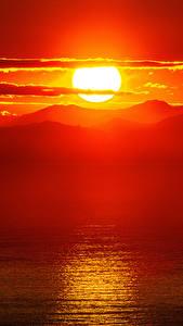 Обои Рассветы и закаты Горы Пейзаж Солнца Природа
