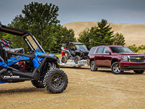 Обои Шевроле Бордовые Металлик 2018 Tahoe LS  Custom Автомобили