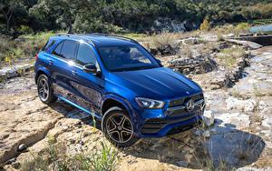 Обои Mercedes-Benz Синий 2019 GLE 350 4MATIC AMG Line