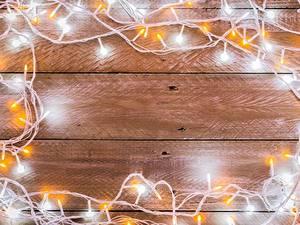 Картинки Рождество Электрическая гирлянда Доски Шаблон поздравительной открытки
