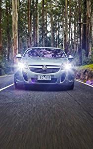 Картинка Опель Спереди Едет Асфальт Insignia Holden VXR 2015 Автомобили