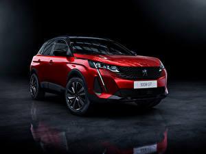 Фотография Пежо CUV Красная Металлик 3008 GT, 2020 Автомобили