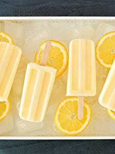 Картинки Сладости Мороженое Лимоны Лед