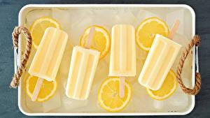 Картинки Сладкая еда Мороженое Лимоны Лед