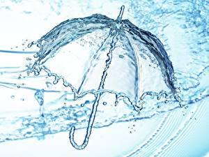 Картинка Вода Зонт