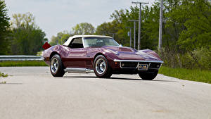 Обои Chevrolet Ретро Бордовая Металлик 1969 Corvette Stingray L88 Convertible Автомобили
