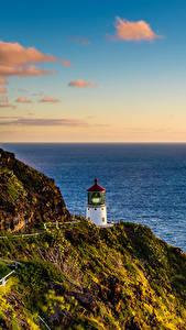 Фотография Побережье Маяки Штаты Гавайи Утес Мох Lighthouse Hike Природа