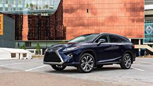 Фотография Lexus Синяя Металлик 2018 RX 450hL Машины