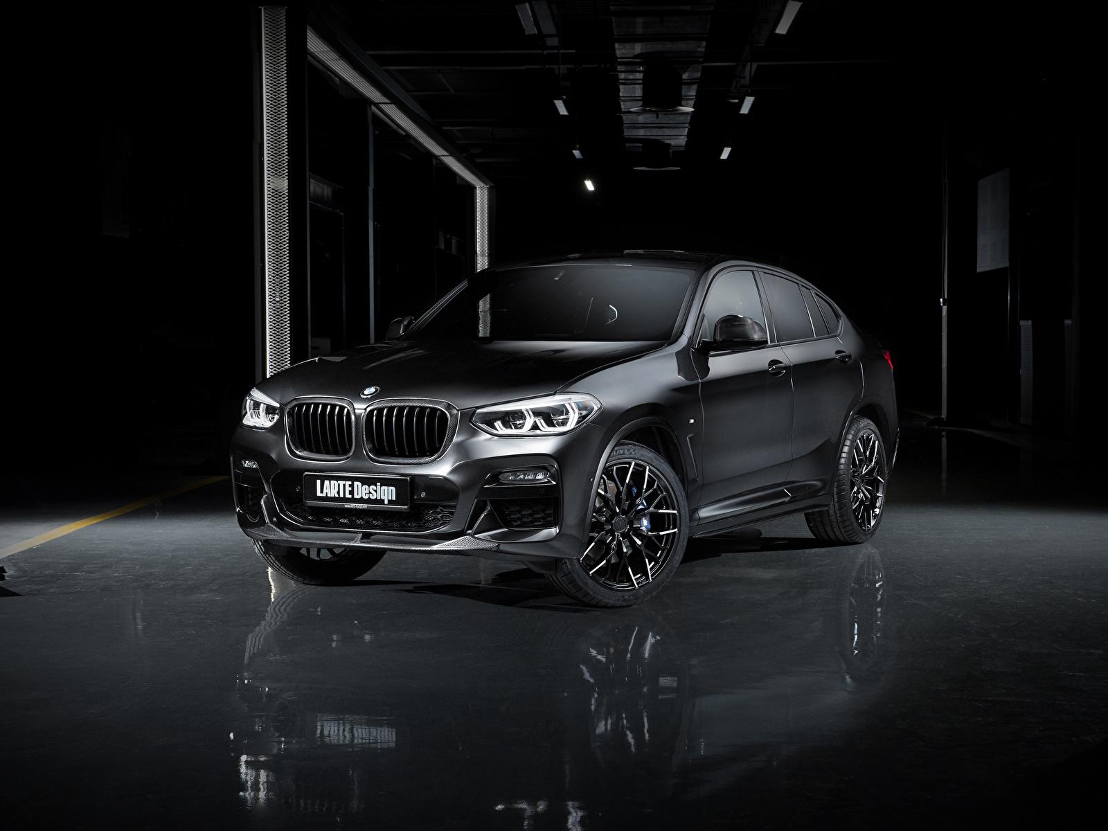 Картинки БМВ Кроссовер 2020 Larte Design BMW X4 Черный Автомобили 1600x1200 CUV черная черные черных авто машины машина автомобиль