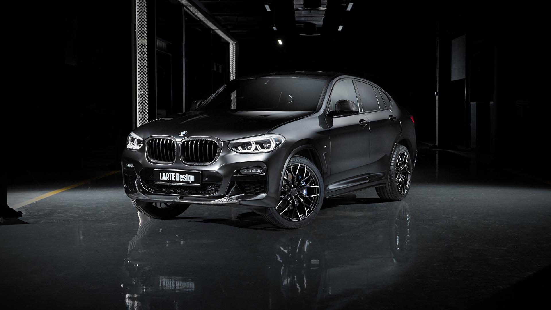 Картинки БМВ Кроссовер 2020 Larte Design BMW X4 Черный Автомобили 1920x1080 CUV черная черные черных авто машины машина автомобиль