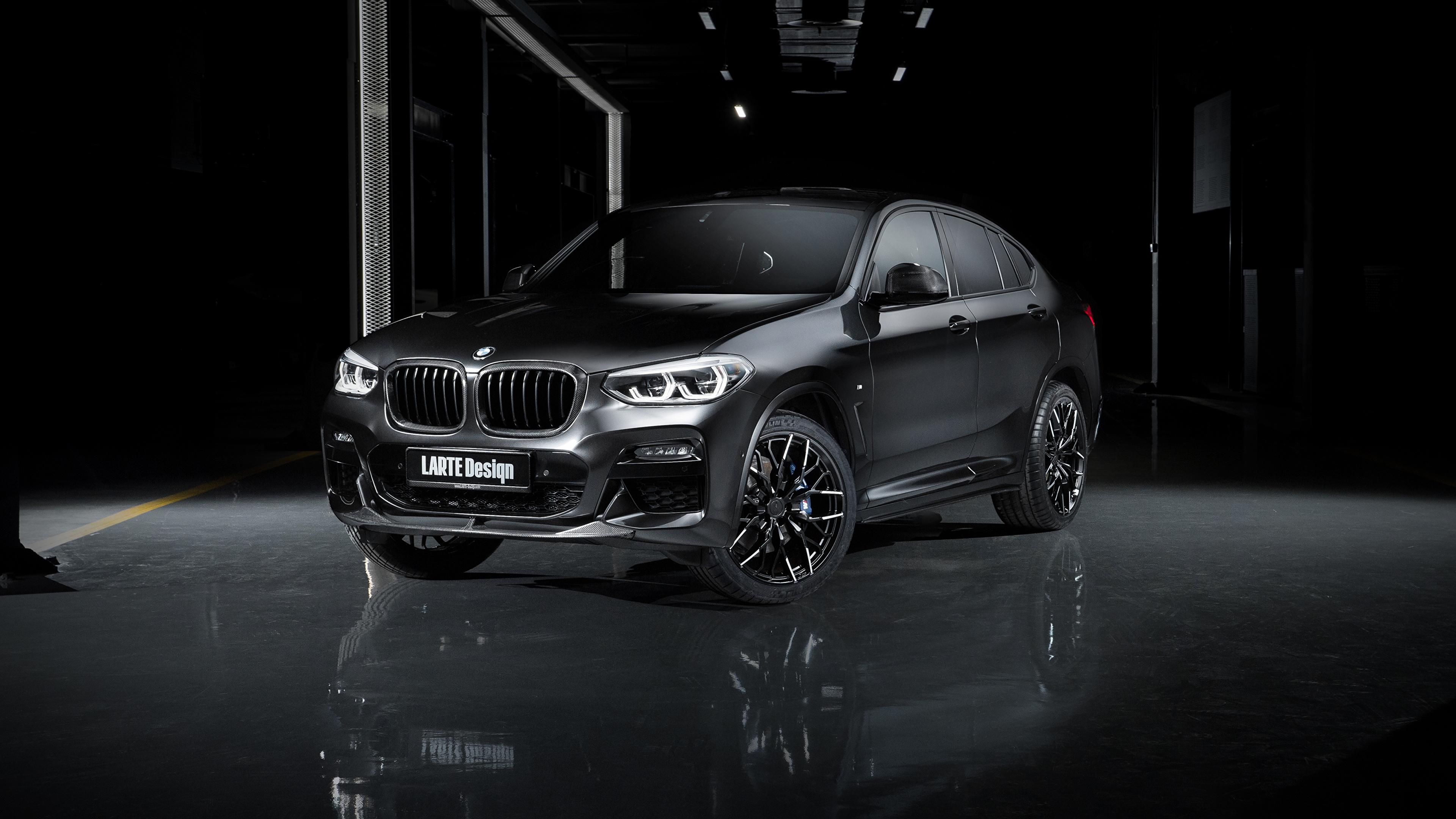 Картинки БМВ Кроссовер 2020 Larte Design BMW X4 Черный Автомобили 3840x2160 CUV черная черные черных авто машины машина автомобиль