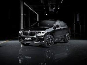 Картинки БМВ Кроссовер Черный 2020 Larte Design BMW X4 Автомобили