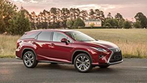 Фотографии Lexus Бордовая Металлик 2018 RX 350L машина