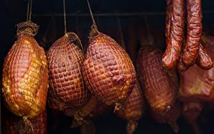 Картинки Мясные продукты Колбаса Ветчина
